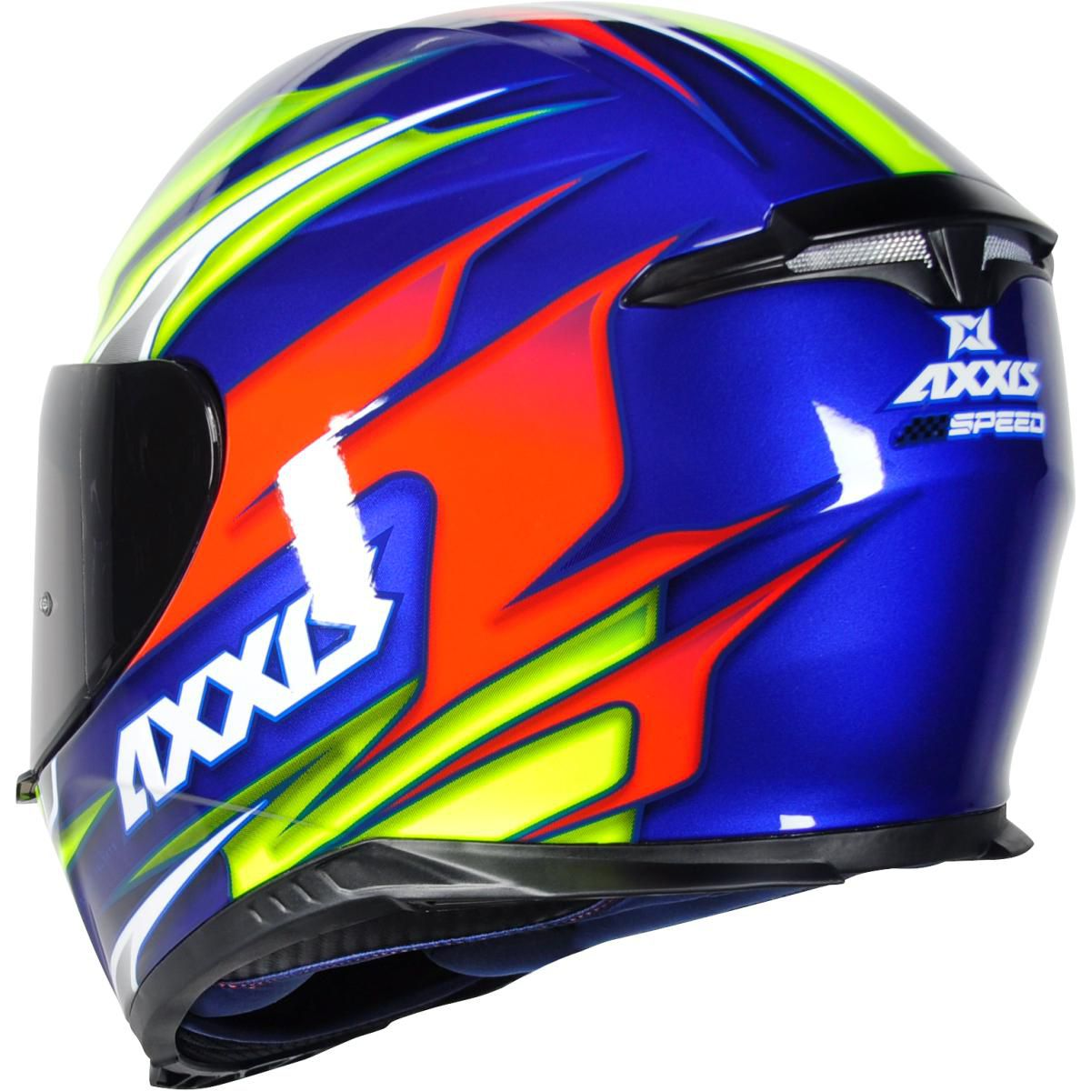 CAPACETE AXXIS EAGLE SPEED GLOSS BLUE YELLOW