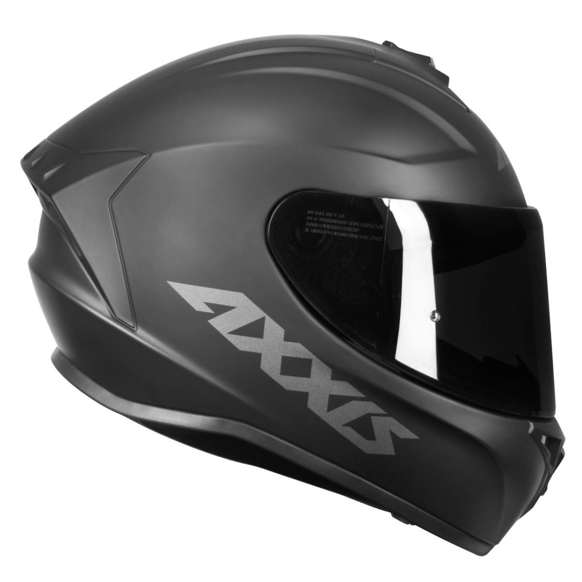 CAPACETE MOTOCICLISTA MOTO AXXIS DRAKEN SOLID/MONO PRETO FOSCO