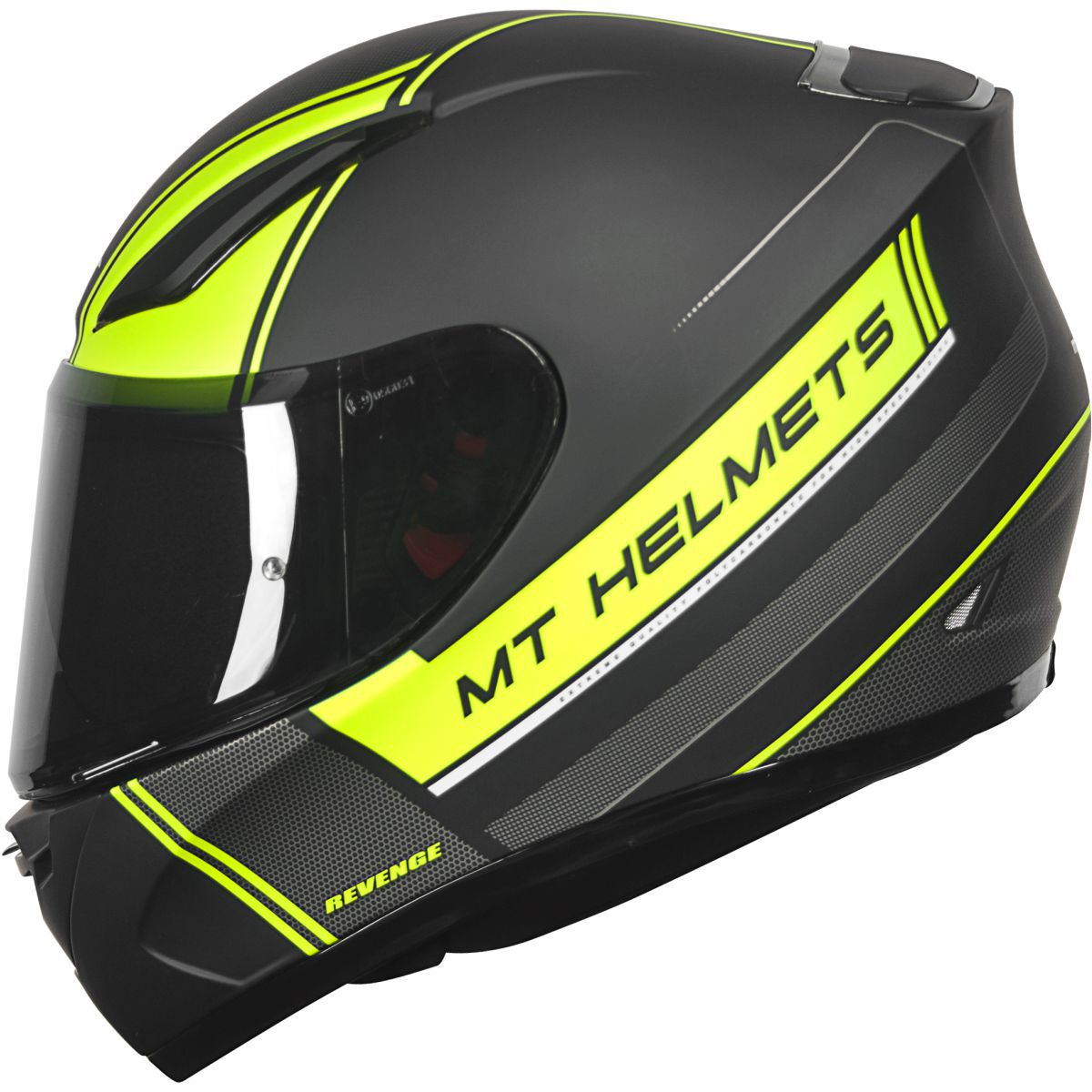 CAPACETE MT REVENGE NAKED MATT YELLOW FLUOR