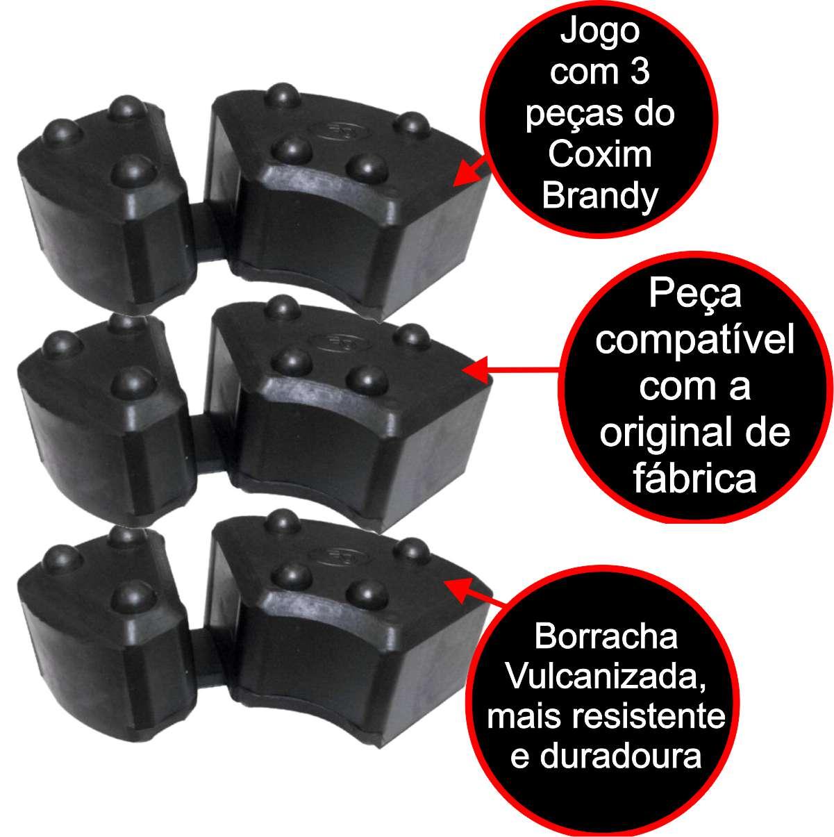COXIM BRANDY CUBO TRASEIRO BORRACHA RODA MOTO BMW G 650 GS / BMW F 650 GS até 2007 JOGO COM 3 PEÇAS