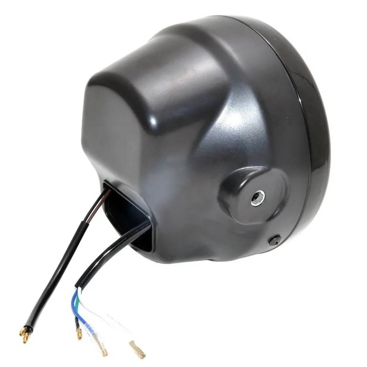 FAROL P/ MOTO HONDA CG 150 TITAN C/ LAMPADA DE LED