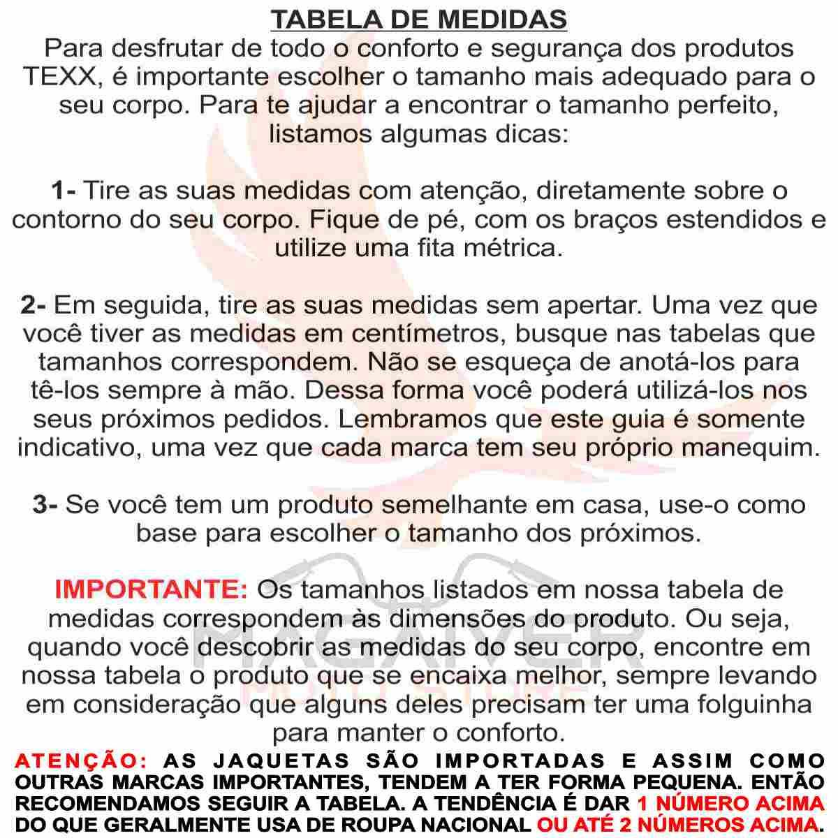 JAQUETA MOTOCICLISTA TEXX ARMOR MASCULINA