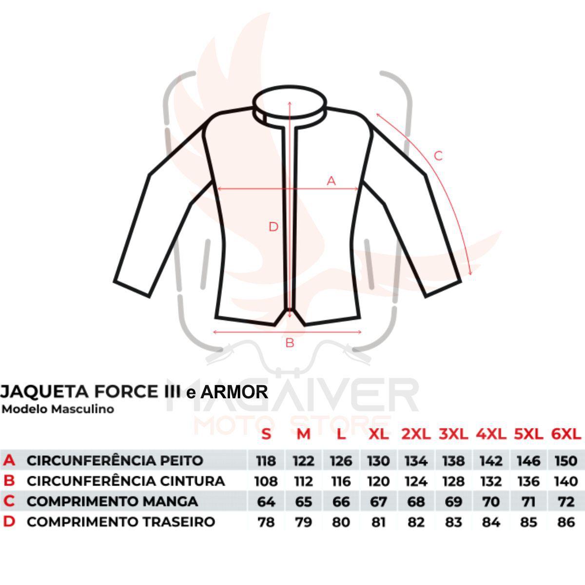 JAQUETA MOTOCICLISTA TEXX ARMOR MASCULINA IMPERMEÁVEL (BIG TRAIL)