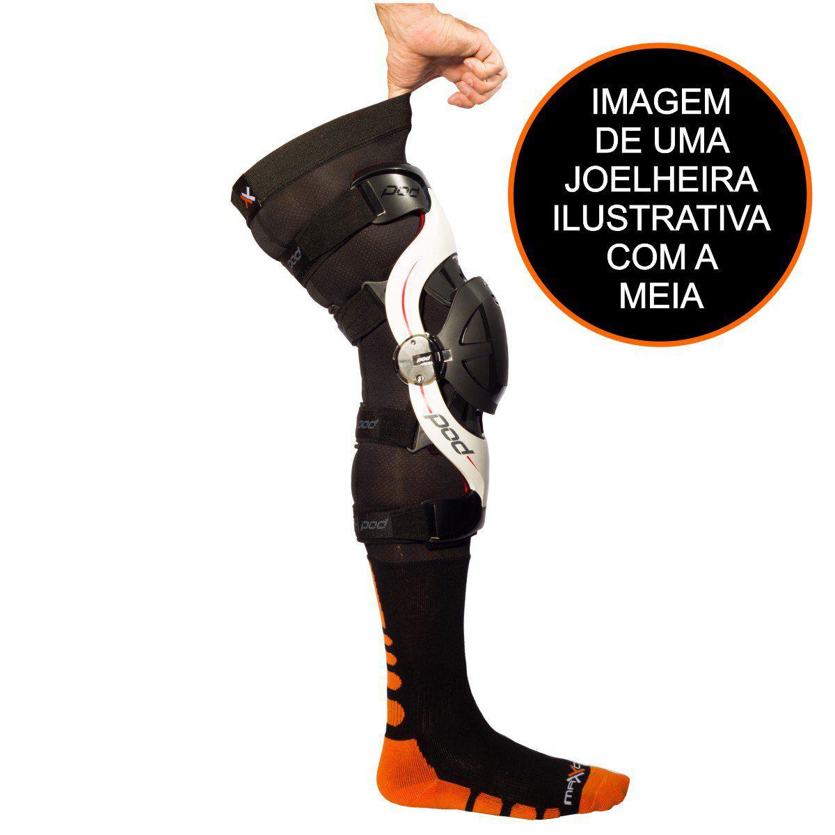 JOELHEIRA MATTOS RACING MX + MEIA BRACE PRO PRETO/LARANJA