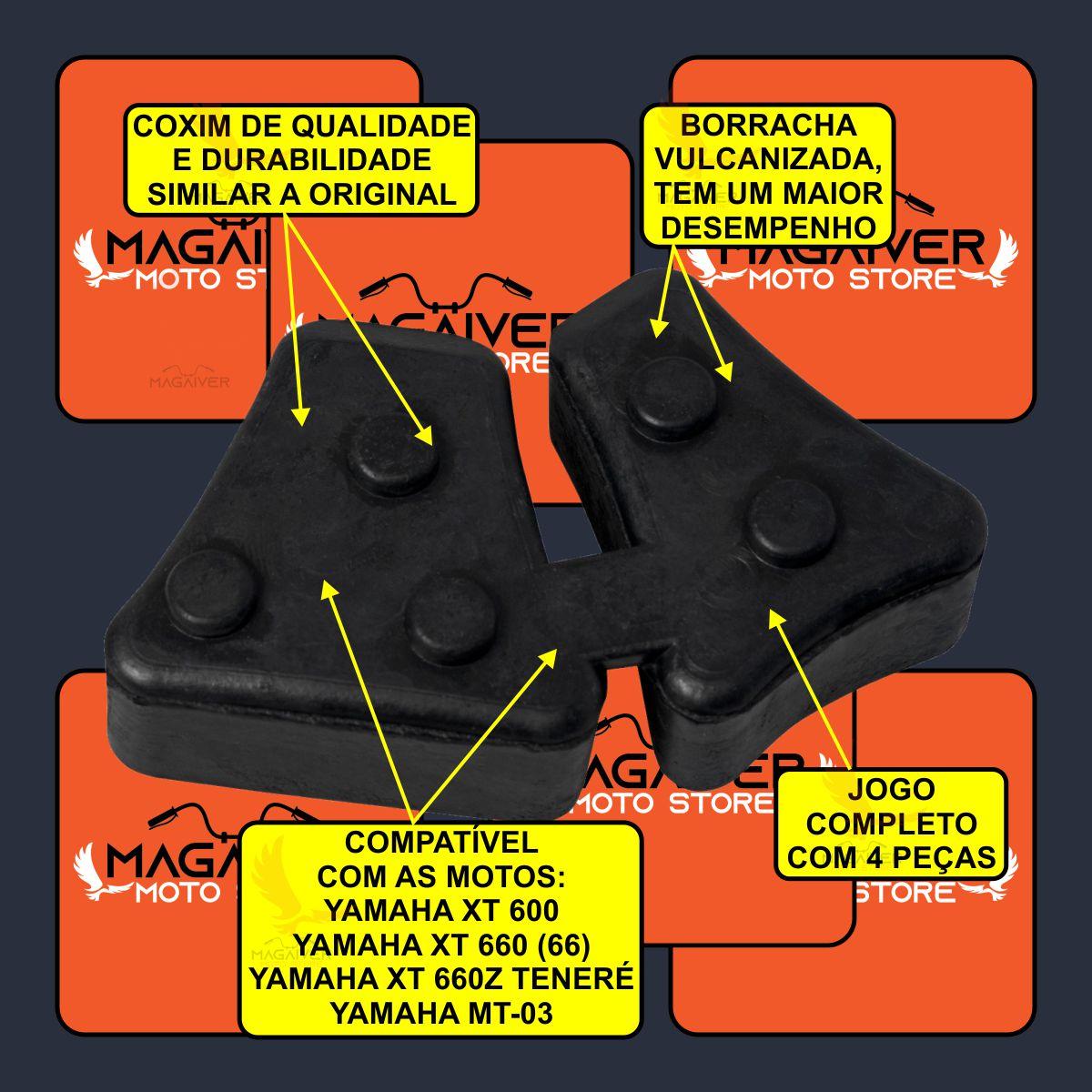 JOGO COXIM DE BORRACHA BUCHA DA COROA CUBO MOTO XT 600 660R 660Z TENERE MT-03 + GRAXA SACHÊ 60g
