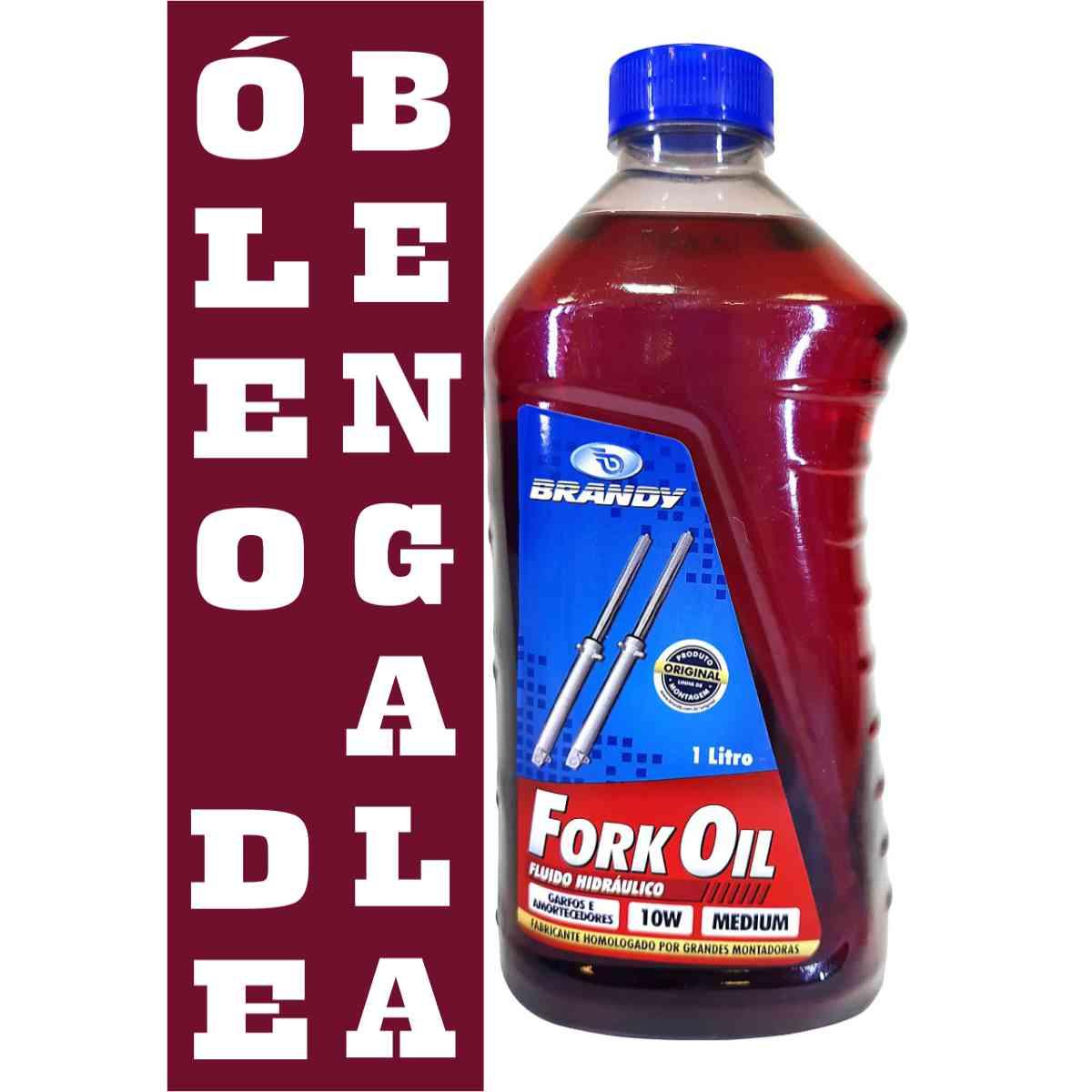KIT C/ 02 OLEO DE BENGALA BRANDY FORK OIL 10W 1,0 LITRO