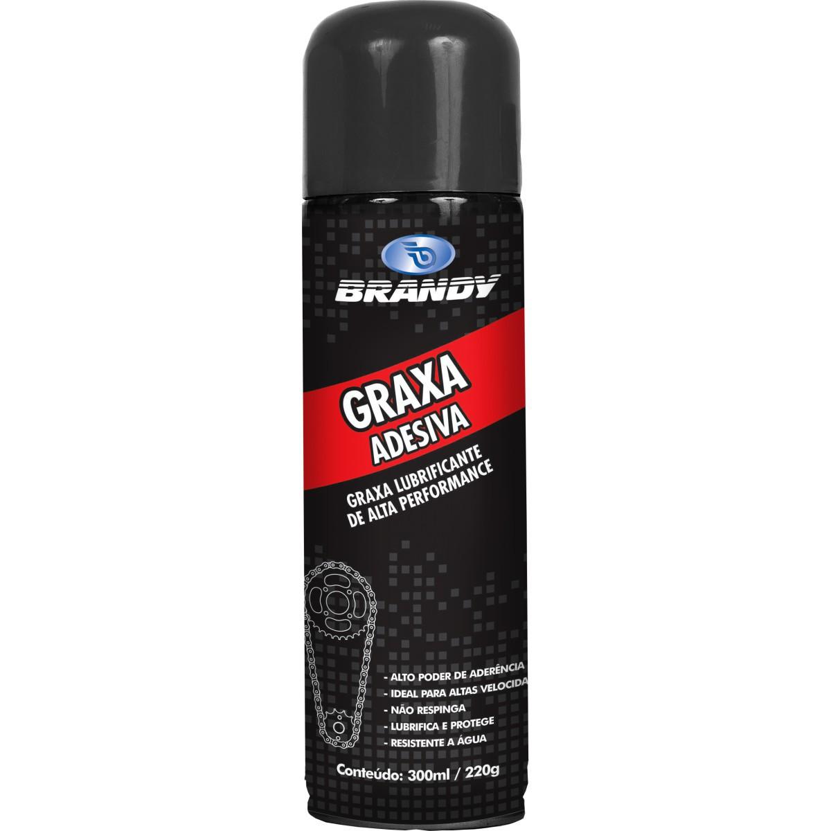 KIT C/ 4 GRAXA BRANDY ADESIVA SPRAY LATA 300ml/220g