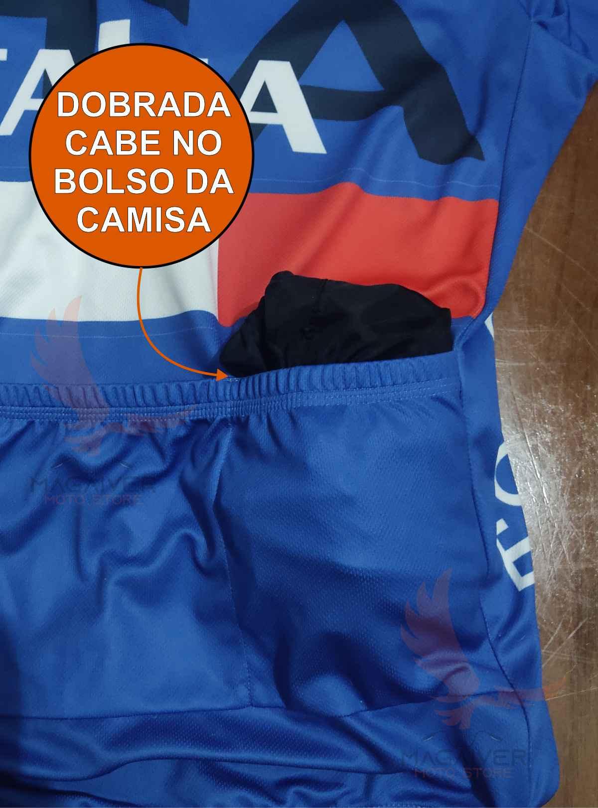 KIT JAQUETA CICLISMO CORTA VENTO MATTOS RACING BIKE BLOCK MTB + 1 GARRAFA ÁGUA CARAMANHOLA 700ml