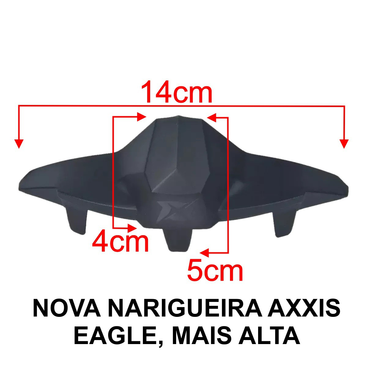 KIT VISEIRA AXXIS EAGLE BLACK FUMÊ V18 + NARIGUEIRA NEW ALTA