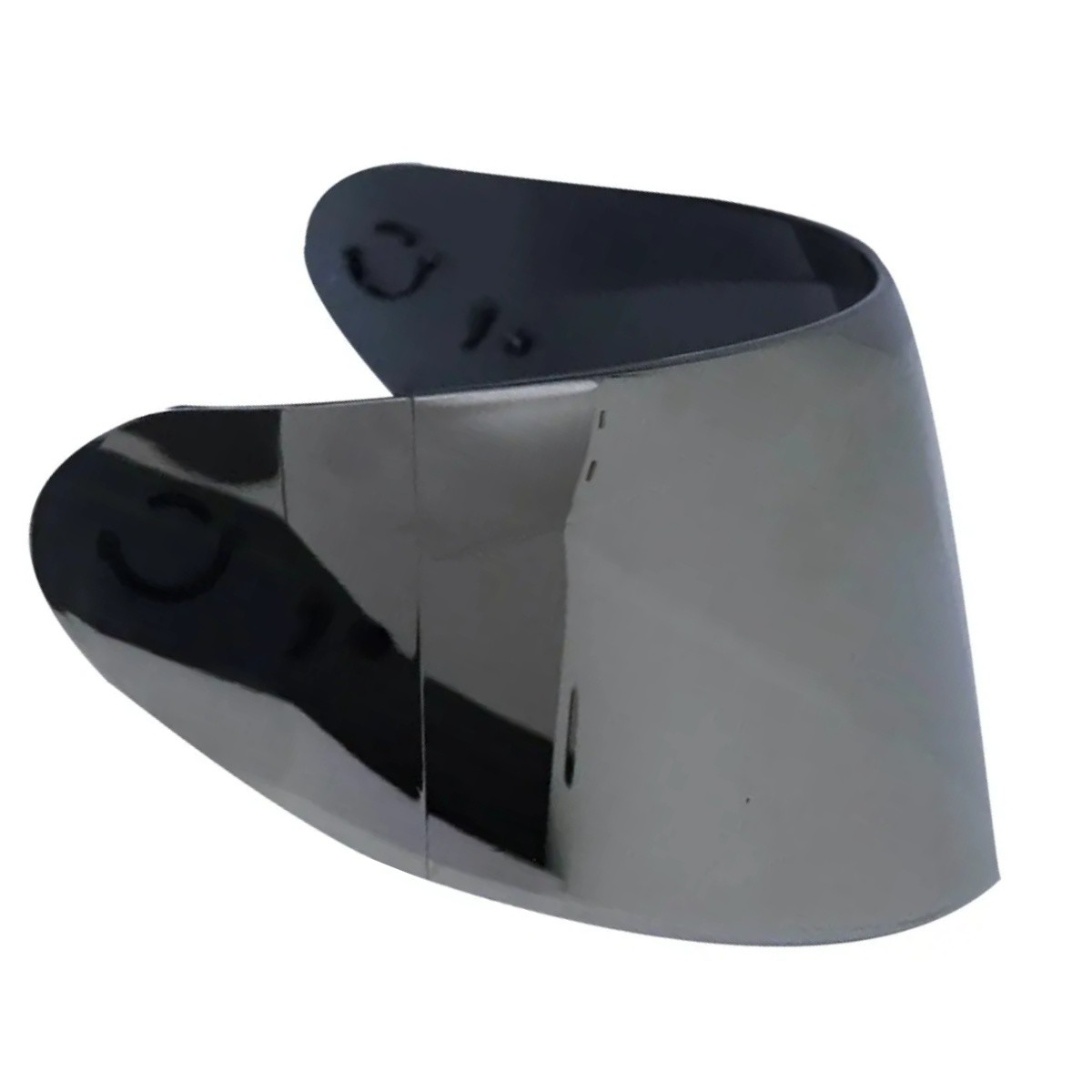 KIT VISEIRA AXXIS EAGLE/DRAKEN SILVER METAL V18 + VISEIRA CLEAR CRISTAL