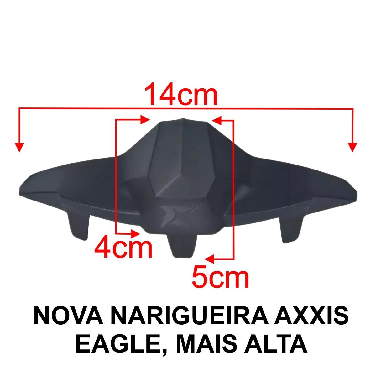 KIT VISEIRA AXXIS EAGLE SILVER PRATA V18 + NARIGUEIRA NEW ALTA