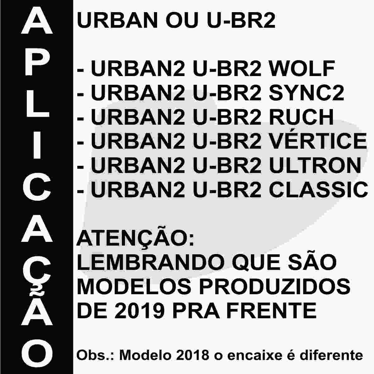 KIT VISEIRA CRISTAL CAPACETE PEELS URBAN U-RB2 19 ANTIRRISCO EM POLICARBONATO + BAIONETA DE FIXAÇÃO