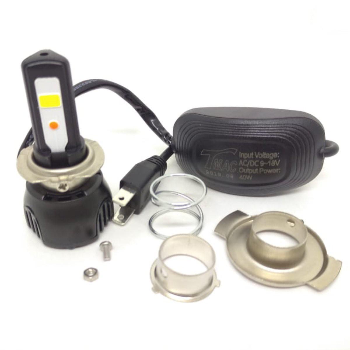 LAMPADA DE LED TMAC FAROL H7 [40W] 3 LEDs 4400 LUMENS C/ REATOR LED011