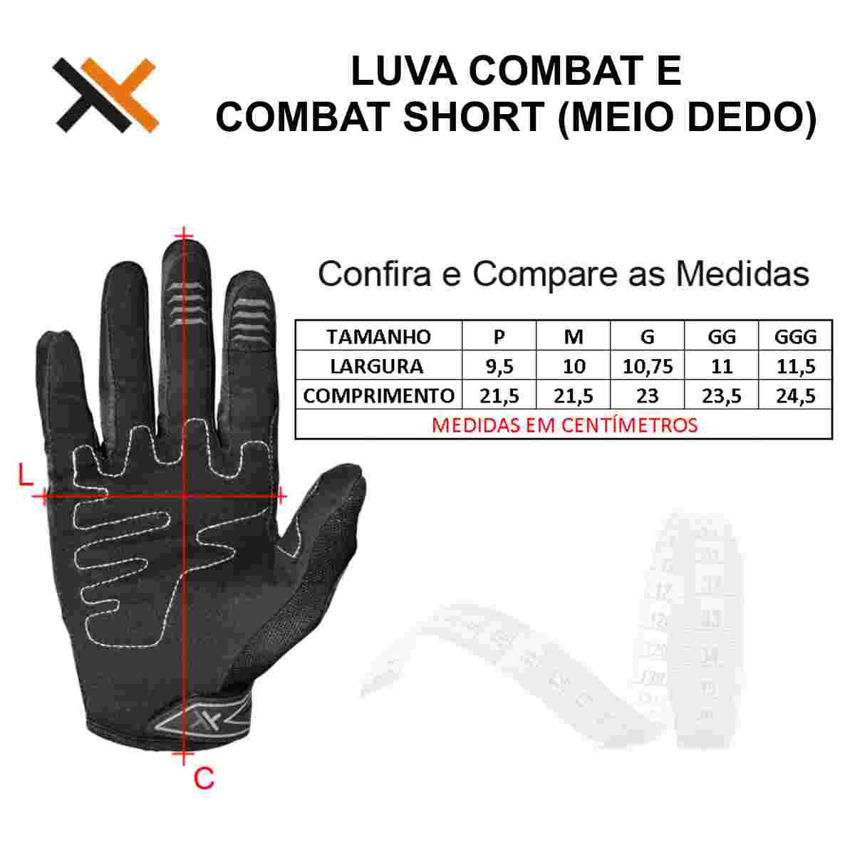 LUVA MATTOS RACING COMBAT SHORT MEIO DEDO PRETO