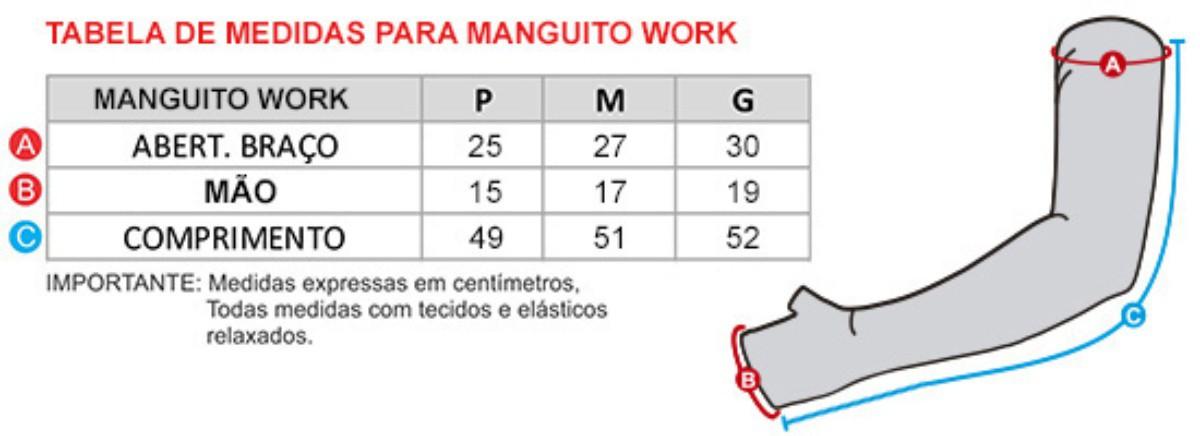 MANGUITO GO AHEAD SEGUNDA PELE WORK PRETO ( CALOR - VERÃO )
