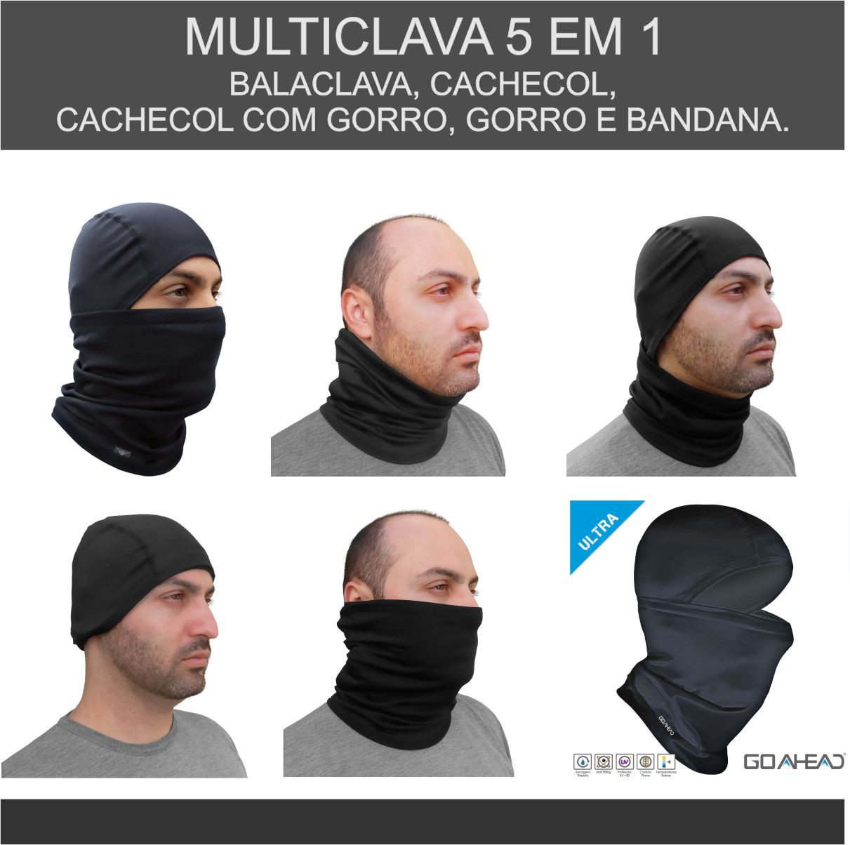 MULTICLAVA GO AHEAD PRETO TAMANHO ÚNICO ULTRA ( FRIO - INVERNO )