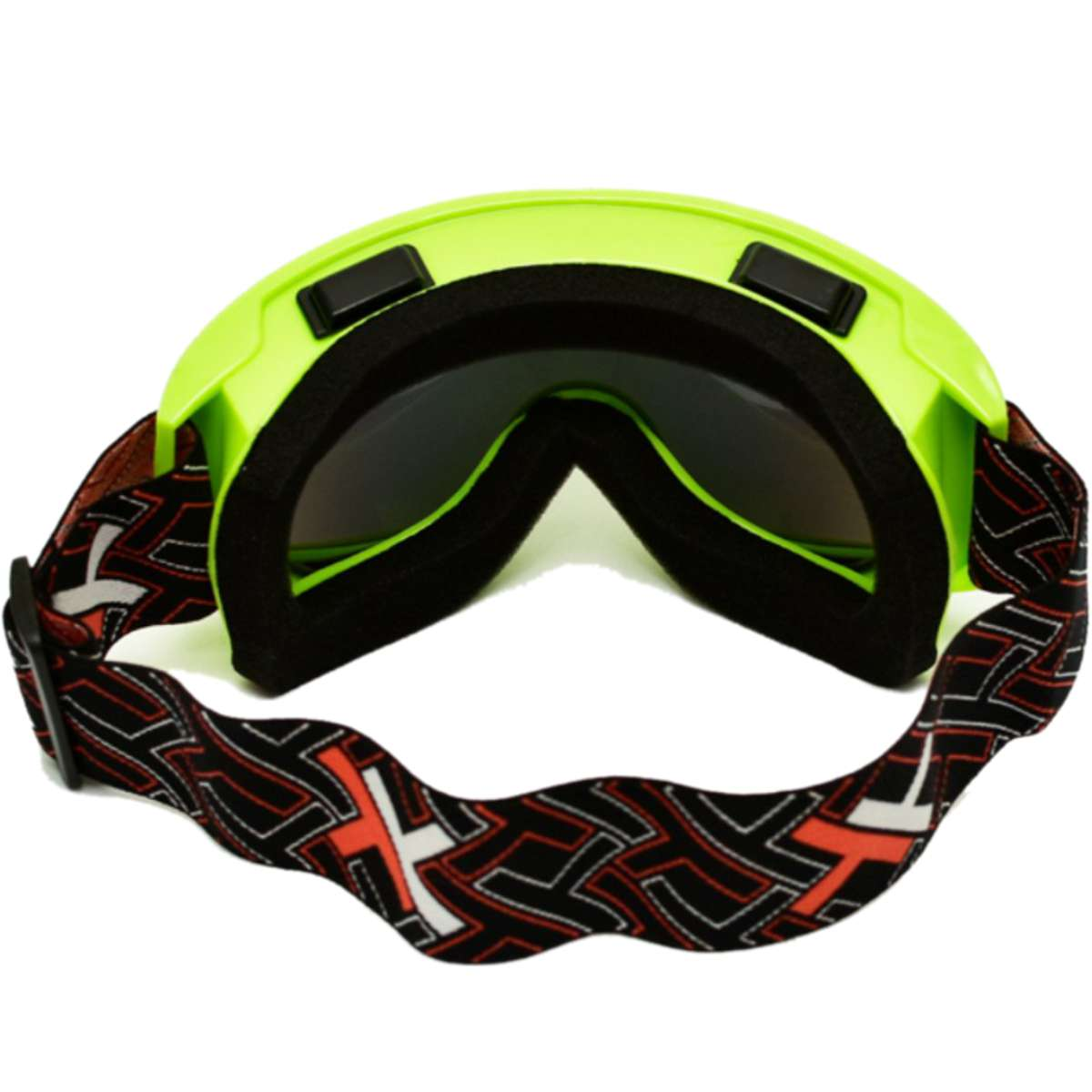 OCULOS CROSS OFF-ROAD MATTOS RACING MX LENTE ESPELHADA AMARELO FLUOR