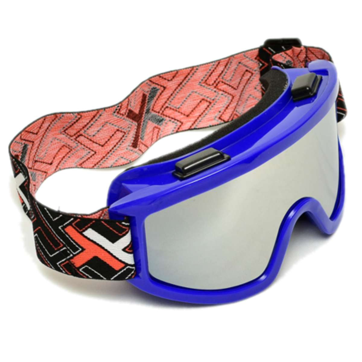 OCULOS CROSS OFF-ROAD MATTOS RACING MX LENTE ESPELHADA AZUL