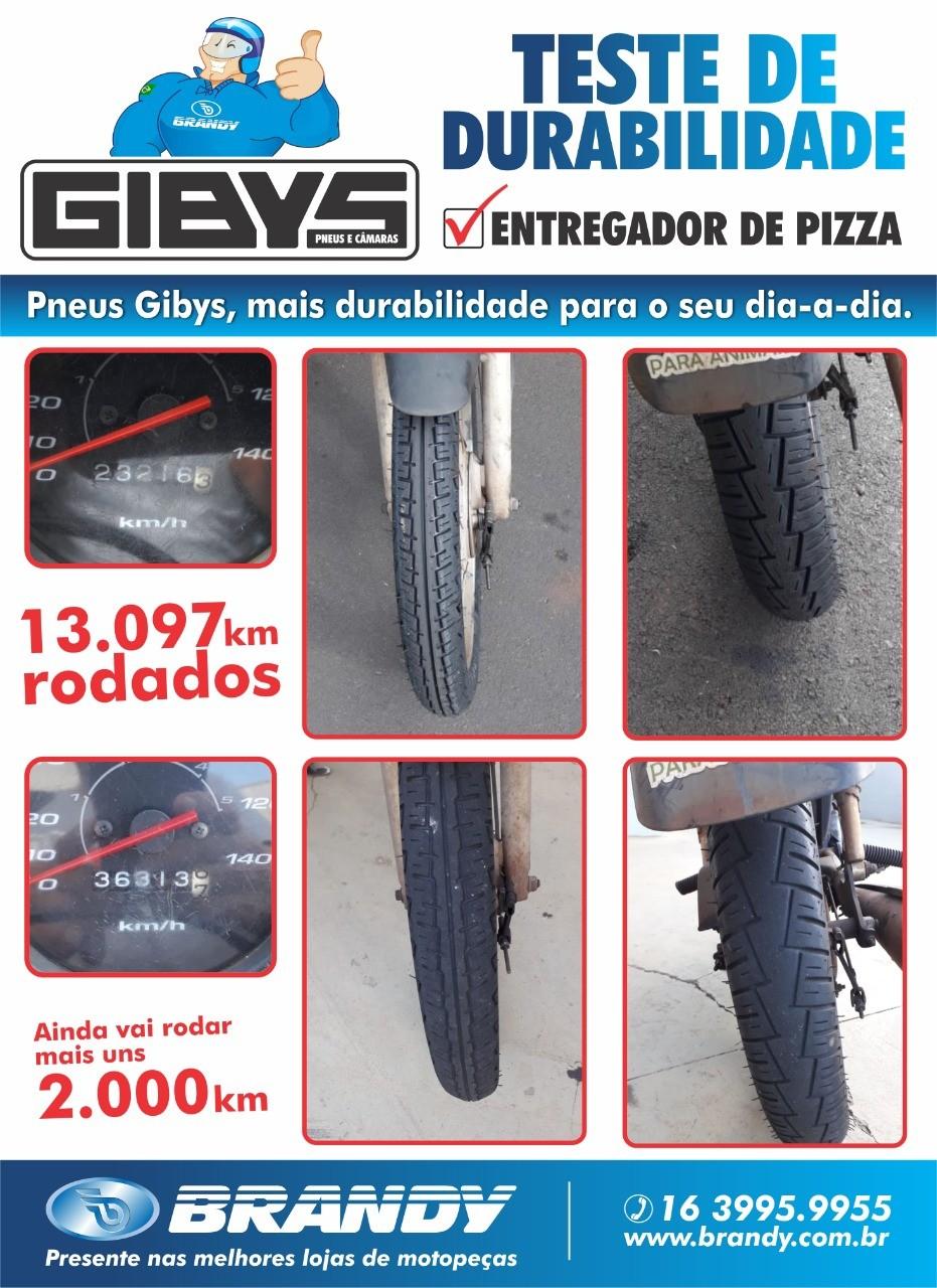 PNEU DE MOTO BRANDY GIBYS BYCITY3 DIANTEIRO 2.75-18 48P USO COM CÂMARA