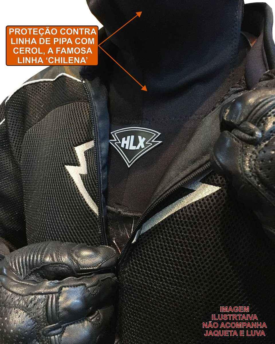 PROTETOR DE PESCOÇO HLX RACING PARA MOTOCICLISTA/MOTOQUEIRO