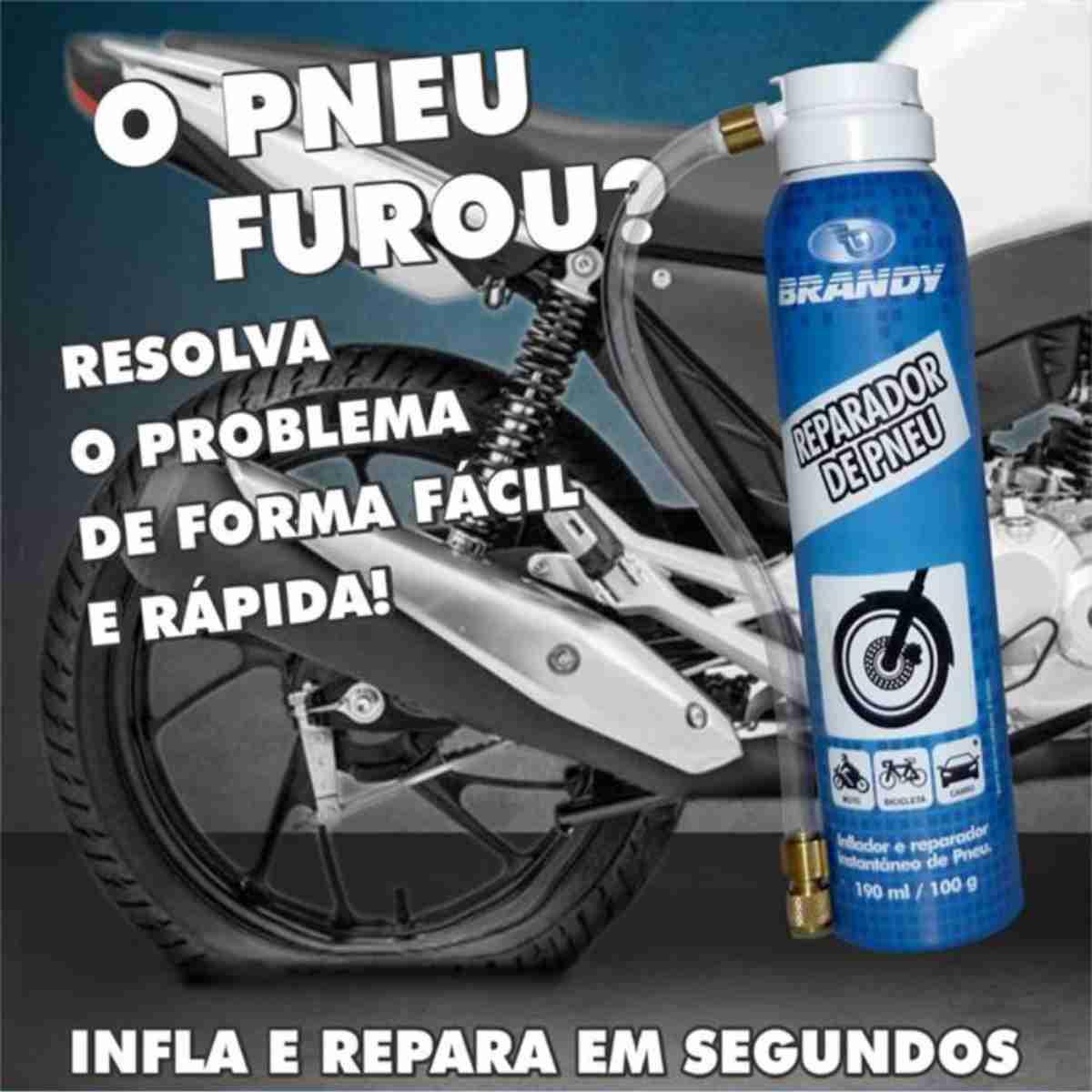 REPARADOR DE PNEUS BRANDY 190ML P/ MOTOS
