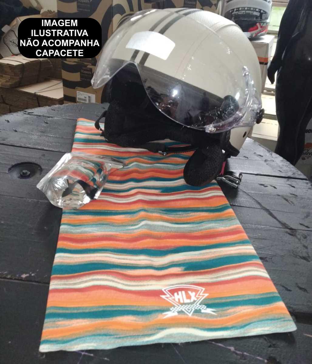 TUBO FLEX HLX RACING CAVEIRA BANDANA MASCARA BUFF ESTAMPADO COLORIDO
