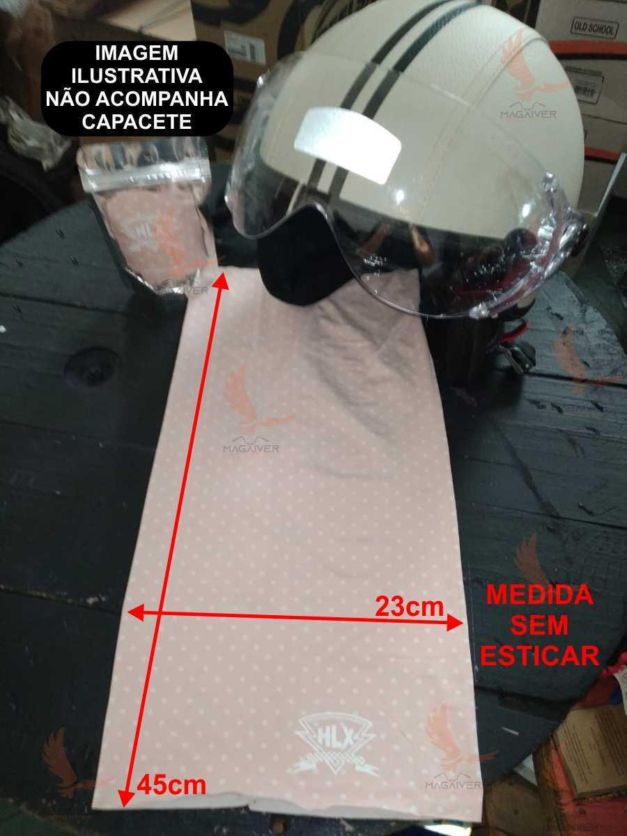 TUBO FLEX HLX RACING CAVEIRA BANDANA MASCARA BUFF ROSA/BOLINHA BRANCA