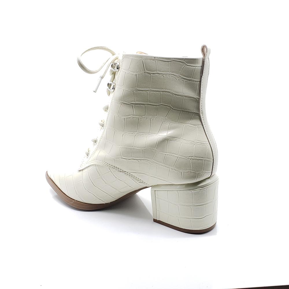 Bota Ankle Boot Vizzano Salto Bloco Textura Croco 3052312