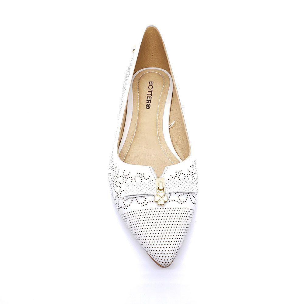 Sapato Bottero Couro Atanado Branco