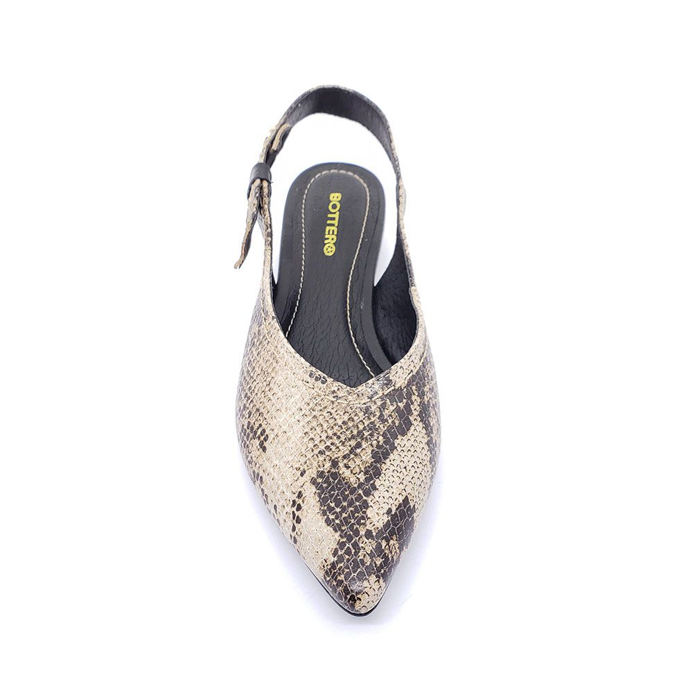 Sapato Bottero Couro Chanel Bico Fino