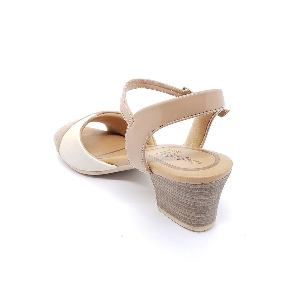 Sandália Comfortflex Salto Bloco