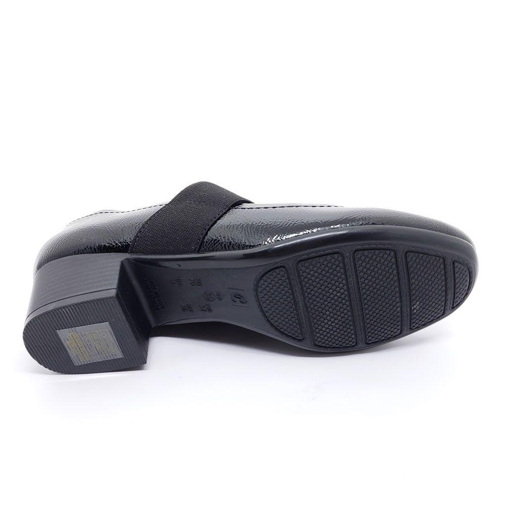 Sapato Comfortflex Verniz - 1986304 Preto
