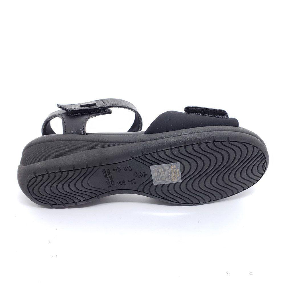 Sandalia Anabela Comfortflex Esporão Velcros
