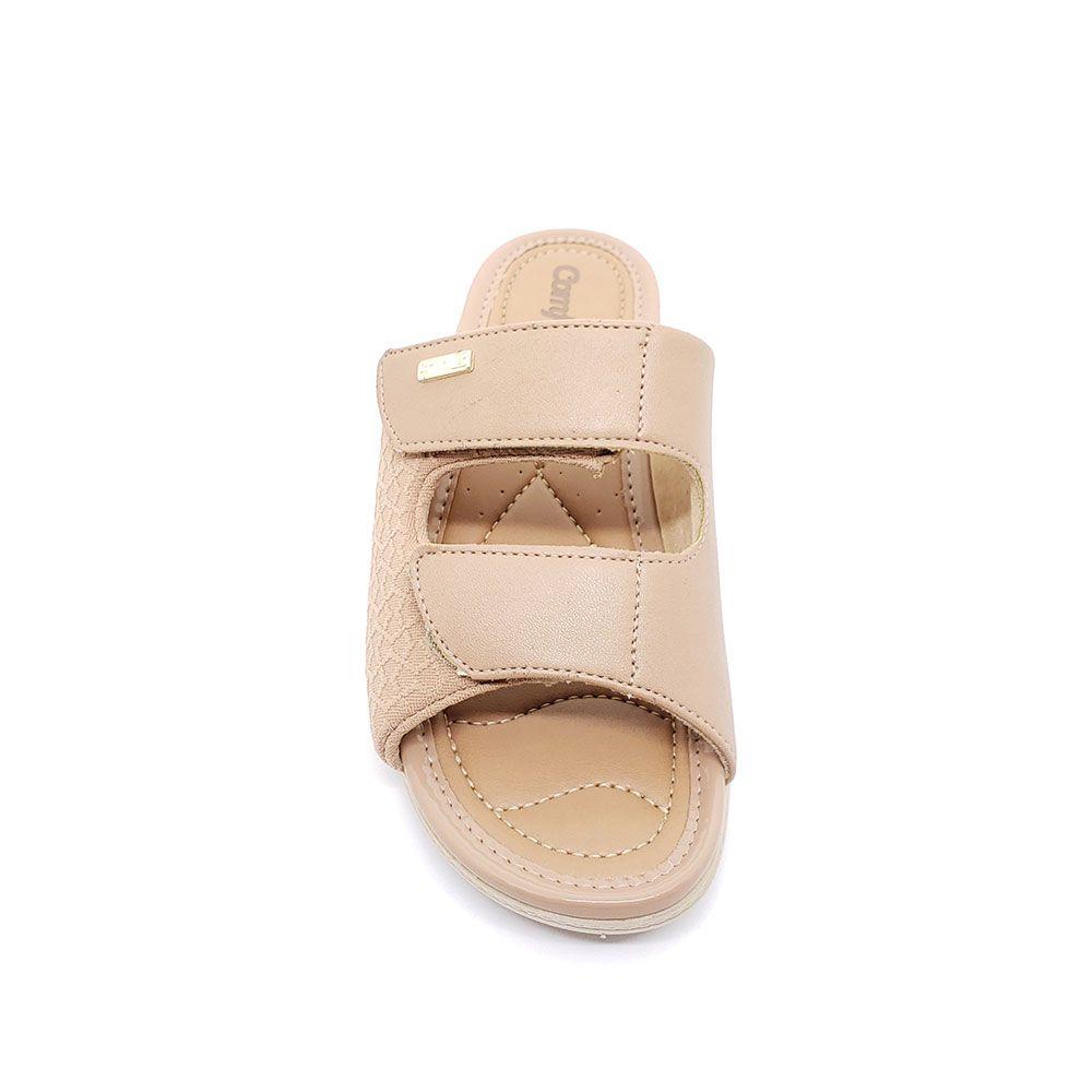 Tamanco Anabela Comfortflex Ajuste Velcro