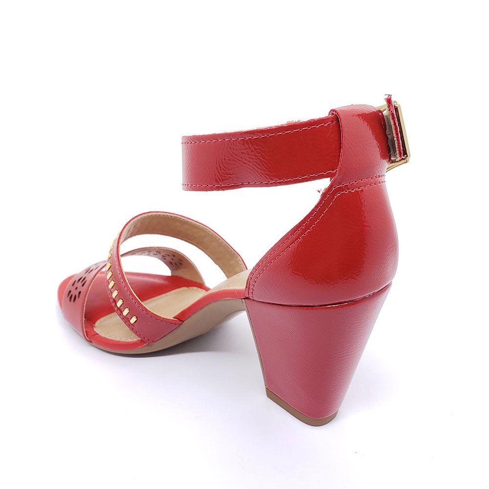 Sandália Dakota Lasercut Vermelha