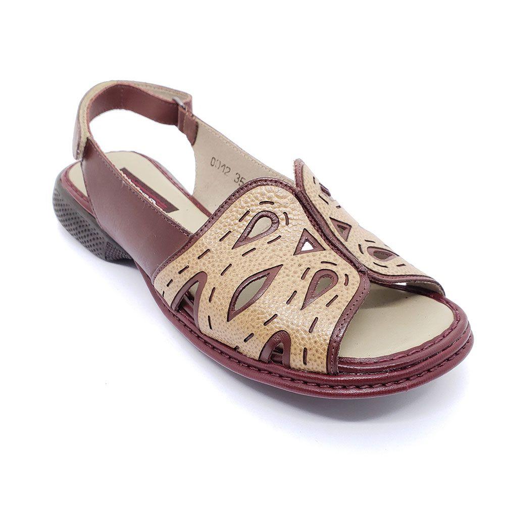 Sandália J Gean Bicolor