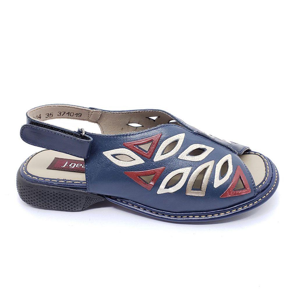 Sandália Em Couro J.Gean