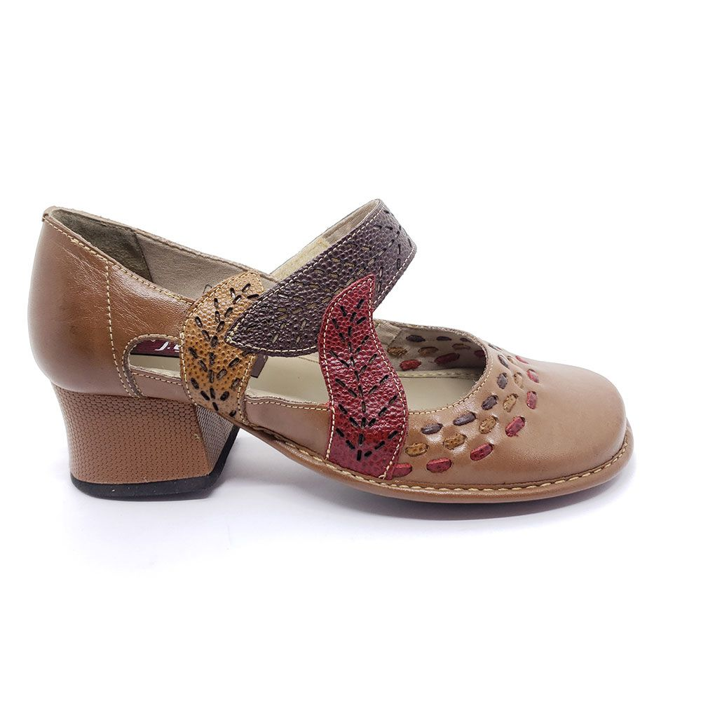 J Gean Sapato em Couro - CK0093