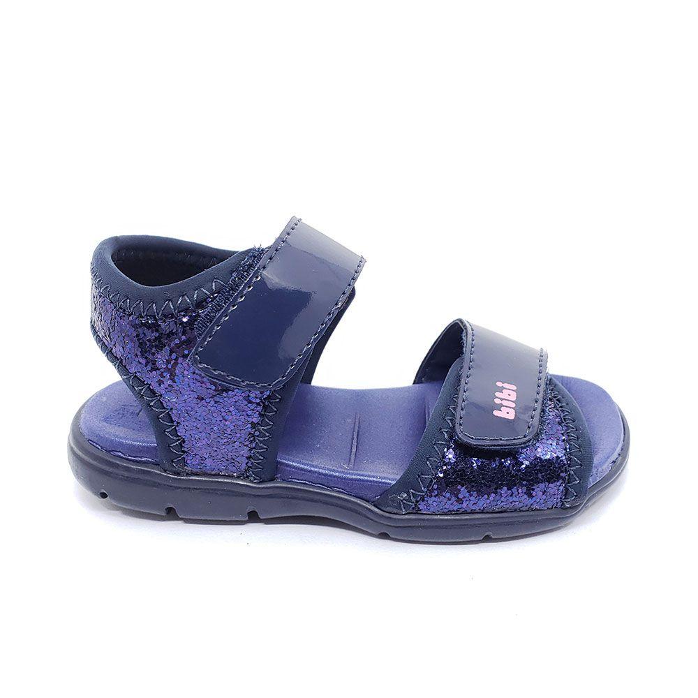 Papete Bibi Infantil Menina Glitter Azul