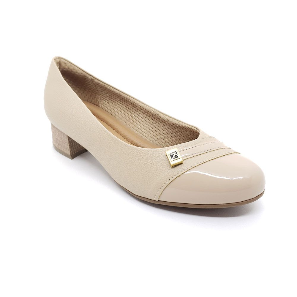 Sapato Scarpin Salto Baixo Piccadilly - 141094