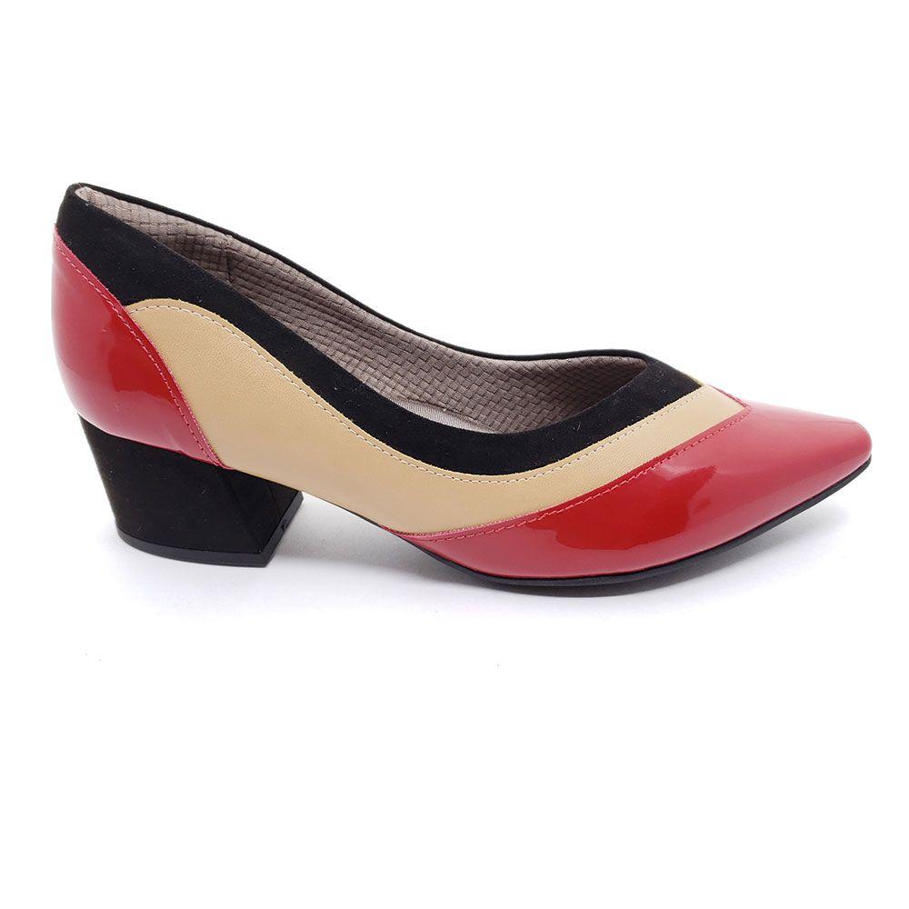 Sapato Scarpin Piccadilly Verniz - 744078