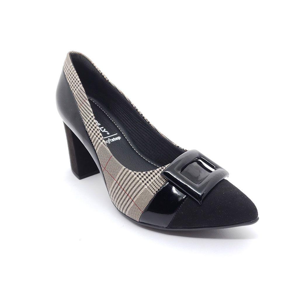 Sapato Piccadilly Soft Step Xadrez - 746015