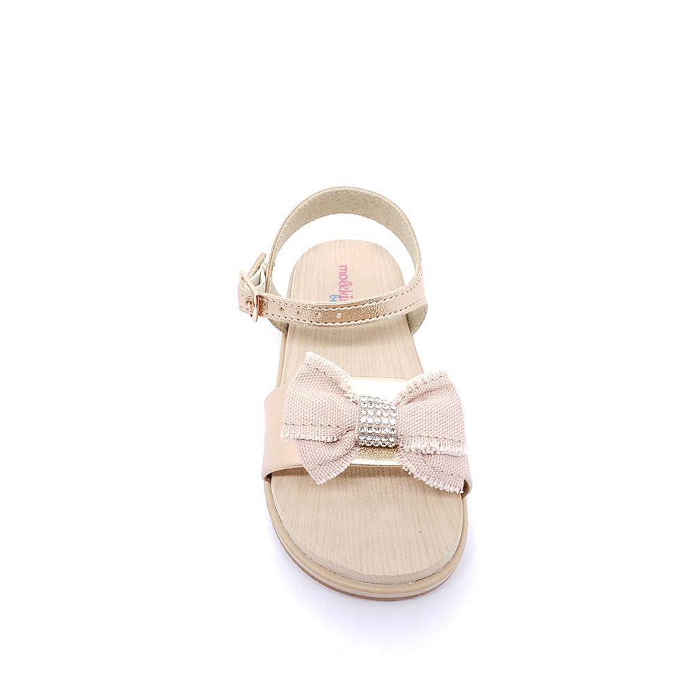 Sandália Baby Molekinha Laço Com Strass