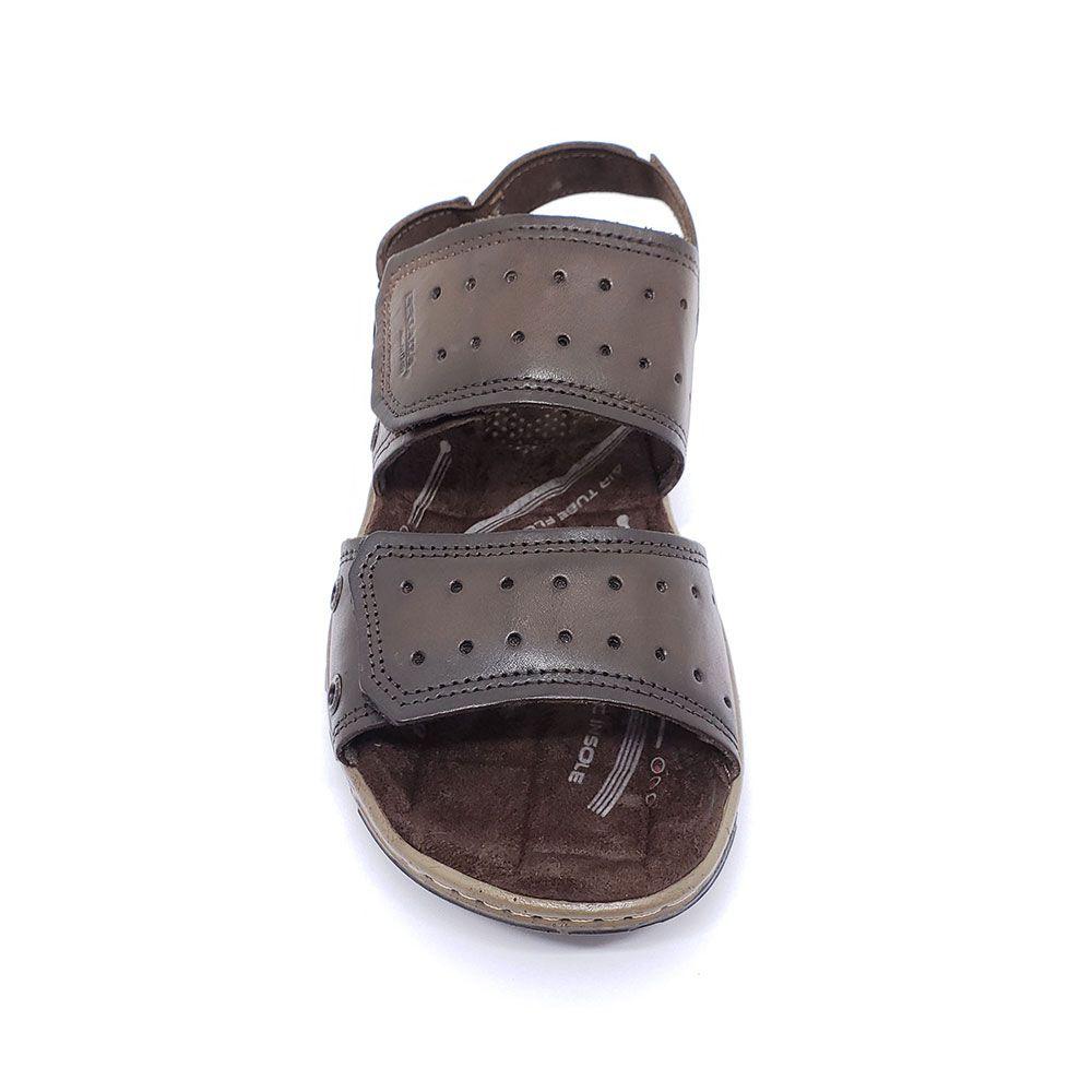 Sandália Pegada Masculina em Couro - 131668