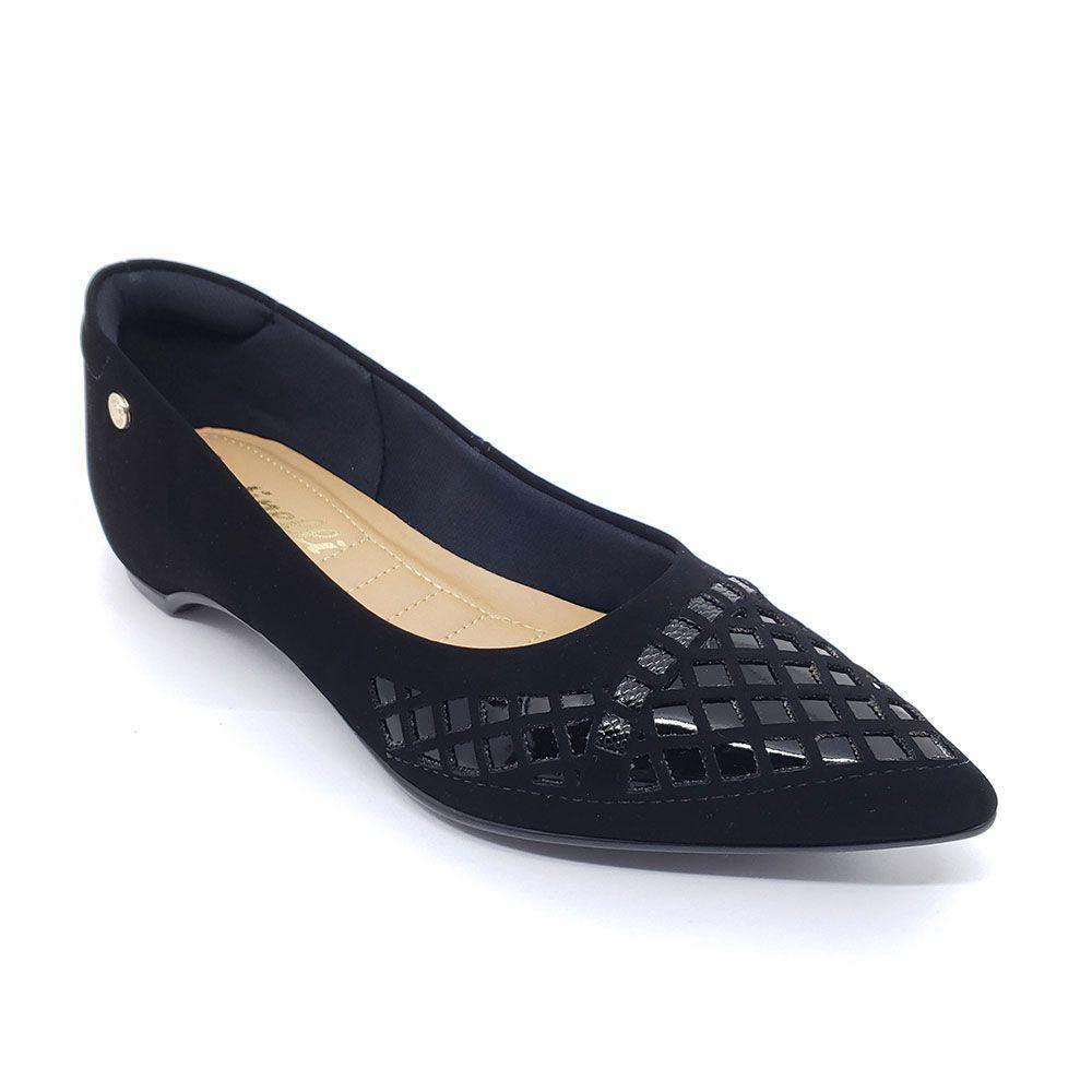 Sapato Santinelli Bico Fino Lasercut Preto