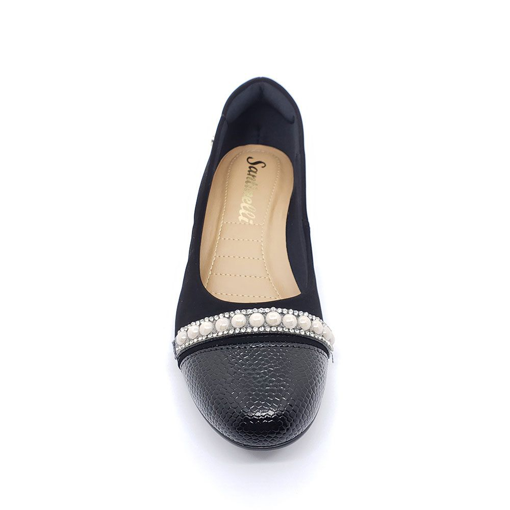 Sapato Santinelli Salto Baixo com Pérolas