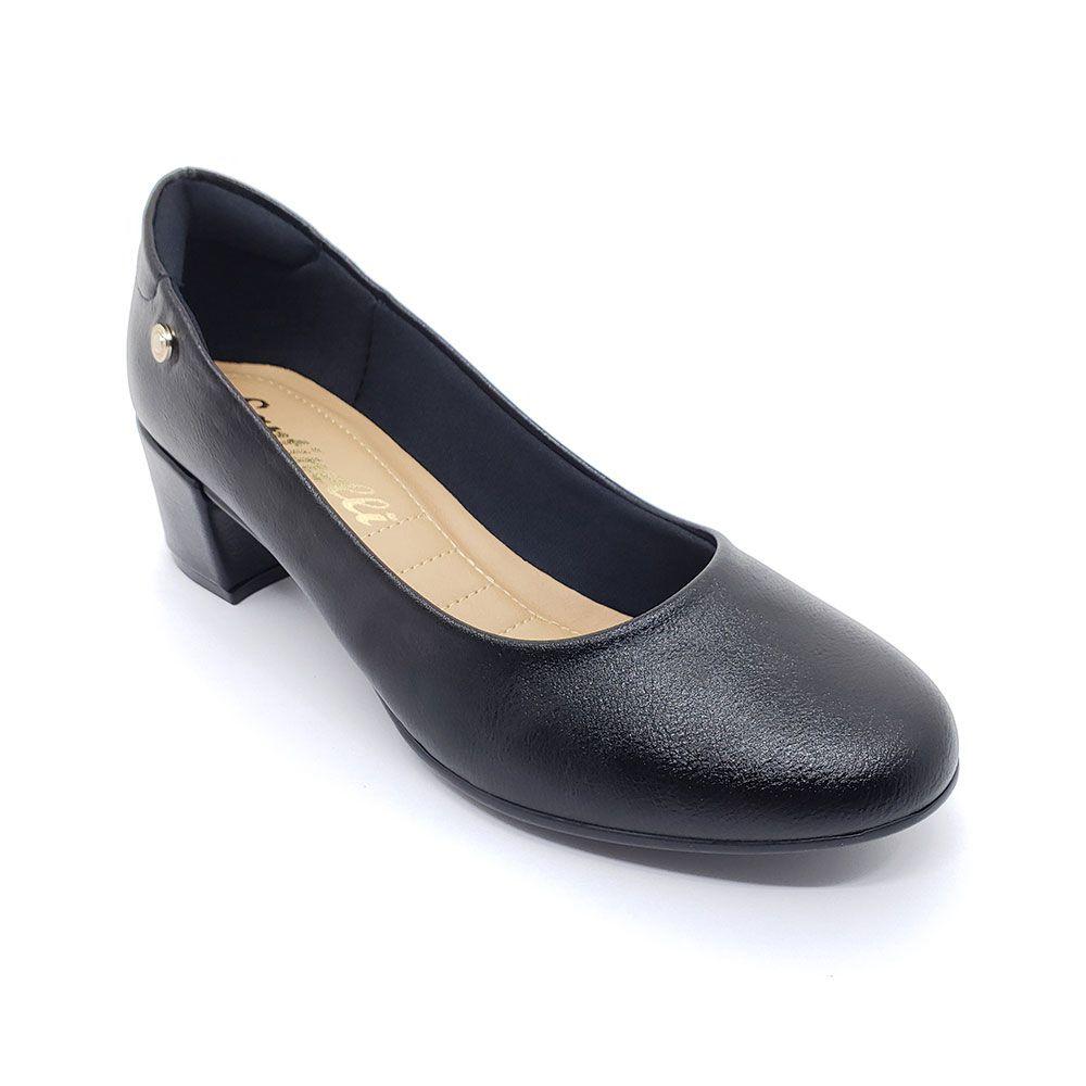 Sapato Santinelli Salto Grosso Preto