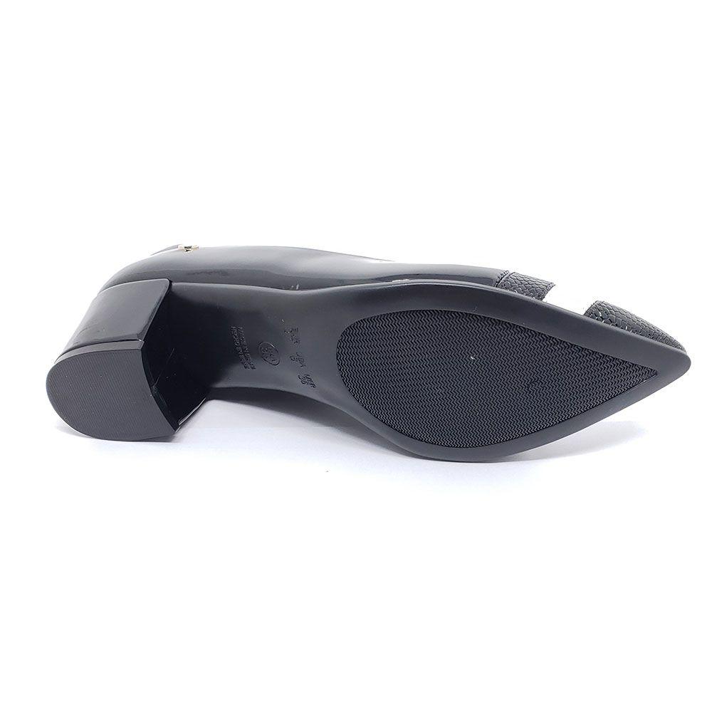 Sapato Santinelli Salto Quadrado Bico Fino 1276-015