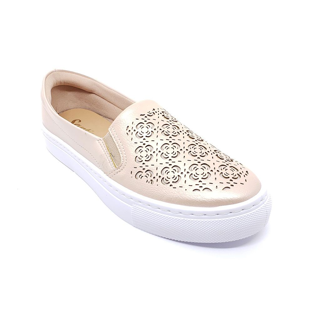 Slip On Santinelli Lasercut Creme