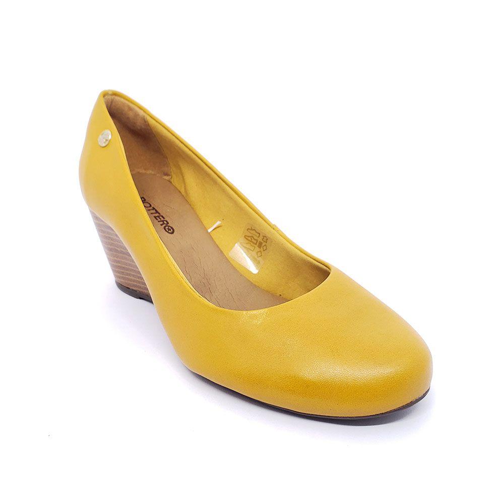Sapato Bottero Salto Anabela Couro - 315801